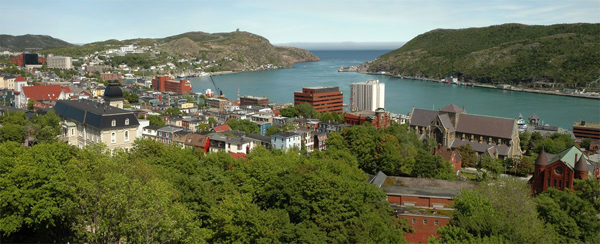 Town of Saint John's on Newfoundland Island