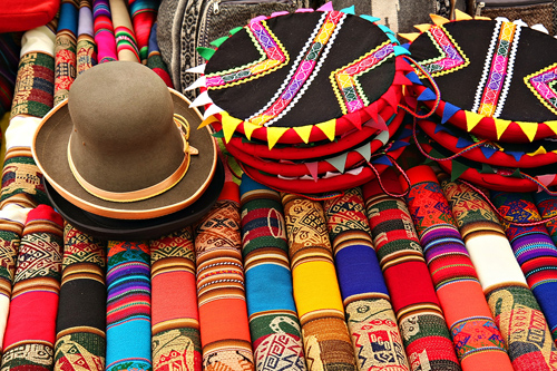 South American Fabric  at a Puruvian Market