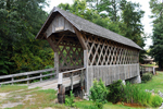 Historic Wooden Covered Bridge in Alabama