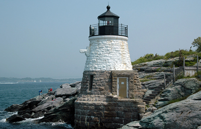 Rhode Island: Castle Hill Lighthouse in Newport