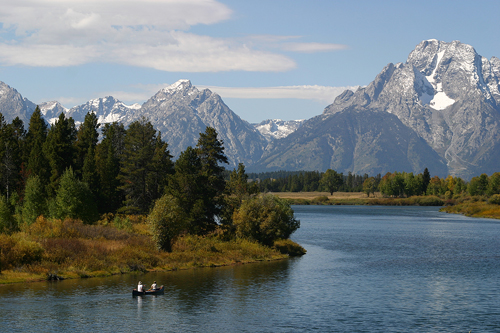 Wyoming: Grand Tetons Canoein